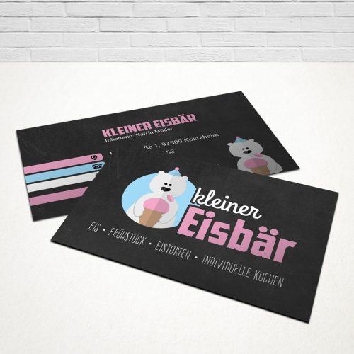 Design Visitenkarten Kleiner Eisbär