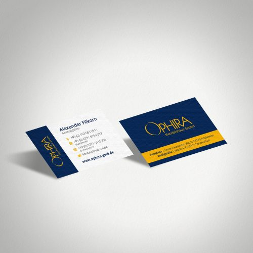 Design Visitenkarten Ophira