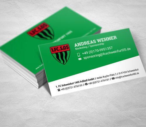 Visitenkarten 1. FC Schweinfurt