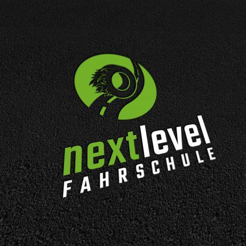 Logo Erstellung und Design Fahrschule Next Level Schweinfurt