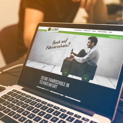 Website erstellen Fahrschule Next Level Schweinfurt