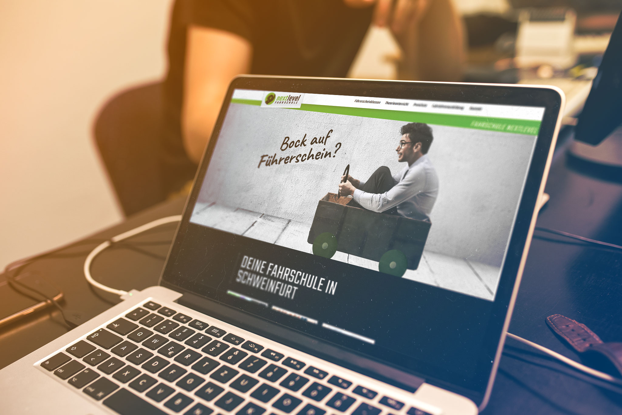 Webdesign Fahrschule Nextlevel