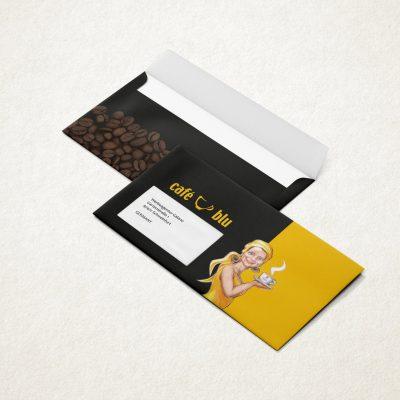Briefumschläge Design Cafe Blu