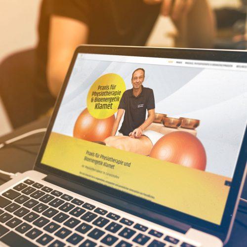 Webdesign Physio Klamet