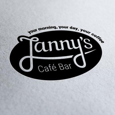 Entwicklung von Janny's Cafe Bar Logo