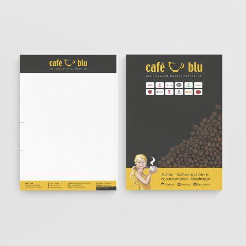 Briefpapier Geschäftsbrief Cafe Blu