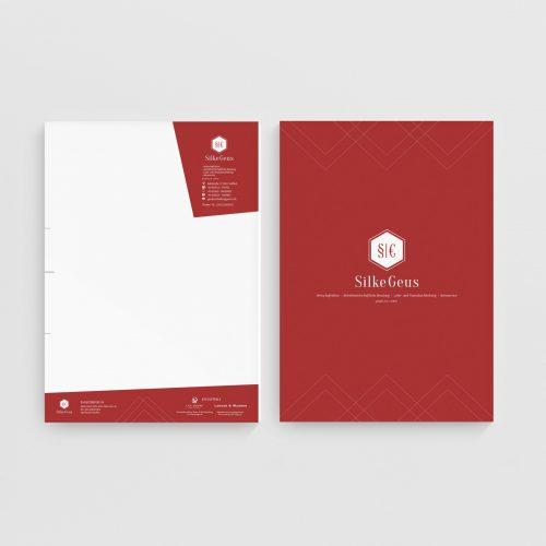 Briefpapier Geschäftsbrief Silke Geus